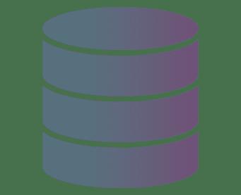 Databastjänster - symbol för databaser